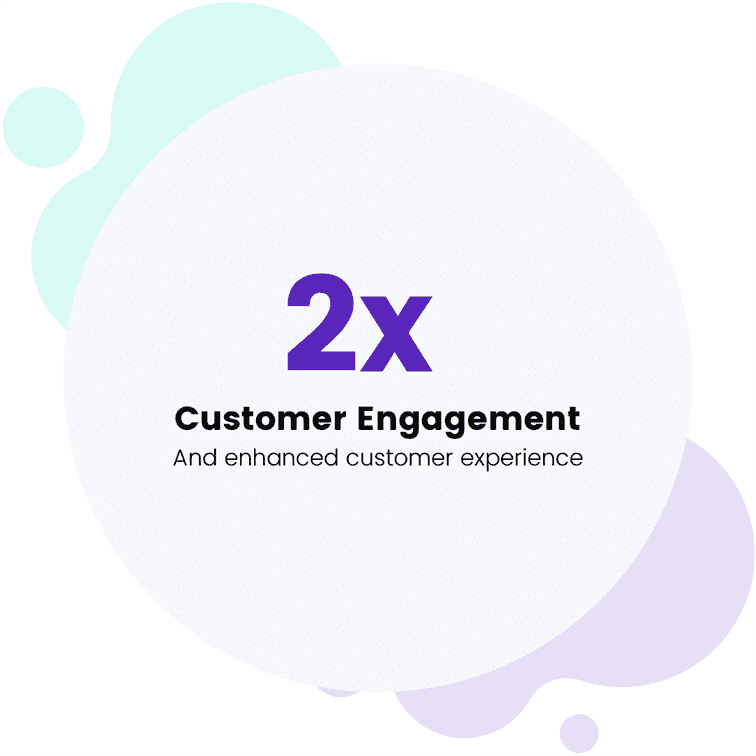 2x Customer Engagement  And enhanced customer experience
